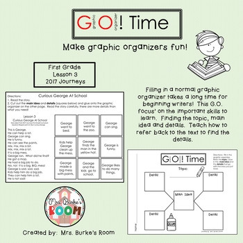 GO Time (Graphic Organizer) - First Grade 2017 Journeys - Lesson 3