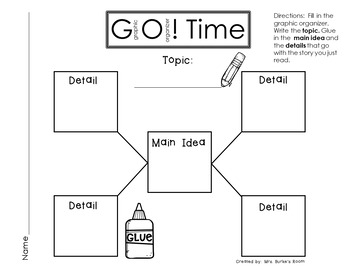 GO Time (Graphic Organizer) - First Grade 2017 Journeys - Lesson 5