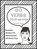 Spanish Verbs | Present Tense Go Verbs: decir and caer