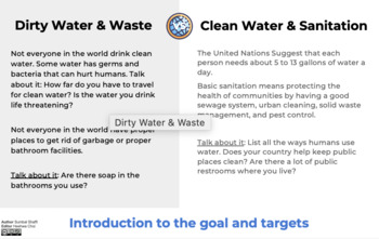 GOAL 6: CLEAN WATER AND SANITATION SUSTAINABLE DEVELOPMENT GOAL