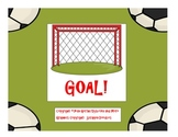 "GOAL! - A spelling activity for ""oa"" and ""oe"""