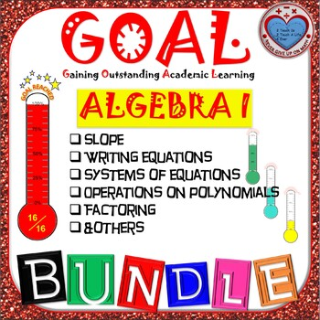 GOAL BUNDLE - ALGEBRA I ACTIVITIES (DIFFERENT TOPICS)