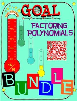 GOAL NO PREP - BUNDLE Factoring Poly (6 activities + 6 Quizzes) (30% OFF)