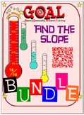 GOAL NO PREP - BUNDLE Find the slope (4 activities + 4 Quizzes)