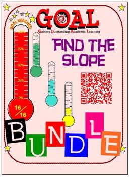GOAL NO PREP - BUNDLE Find the slope (4 activities + 4 Quizzes)