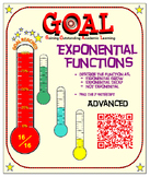 GOAL NO PREP - Exponential Growth, Decay, (ADVANCED) & Quiz (QR Codes)