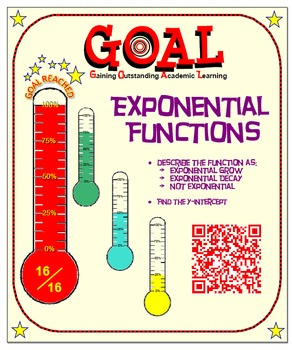 GOAL NO PREP - Exponential Growth, Decay, or Neither & Quiz (QR Codes)