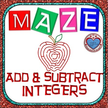 Maze - Adding AND Subtracting Integers
