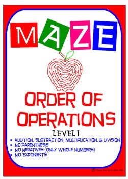 Maze - Order of Operations - Level 1