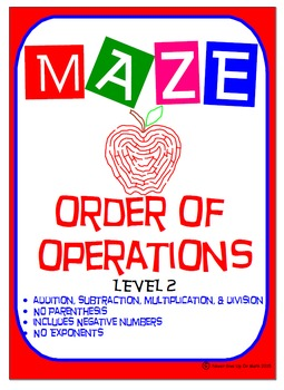 Maze - Order of Operations - Level 2