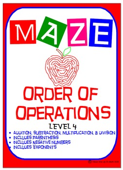 Maze - Order of Operations - Level 4