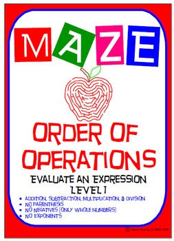 Maze - Order of Operations - Evaluate an Expression Level 1