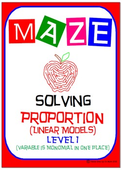 Maze - Solving Proportions Level 1