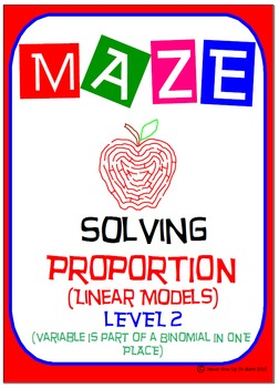 Maze - Solving Proportions Level 2