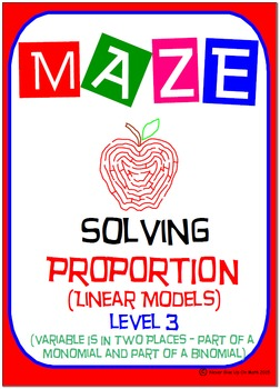 Maze - Solving Proportions Level 3