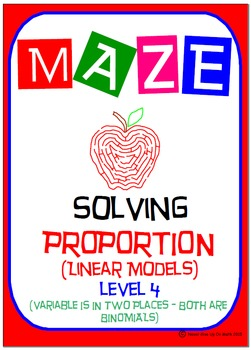 Maze - Solving Proportions Level 4