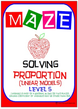 Maze - Solving Proportions Level 5