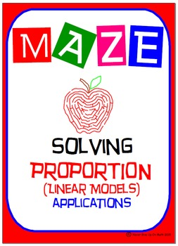 Maze - Solving Proportions - Real World Applications