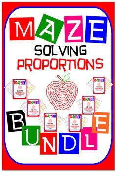 Maze - BUNDLE Solving Proportions (6 Mazes)