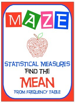 Maze - Find the Mean from Frequency Table
