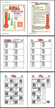 GOAL NO PREP - Find the slope from table & Quiz (QR Codes)