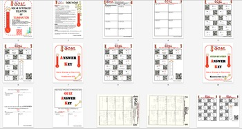 GOAL NO PREP - Solve System of equation by Elimination Level 2 & Quiz (QR Code)