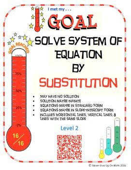 GOAL NO PREP - Solve System of equation by Substitution Le
