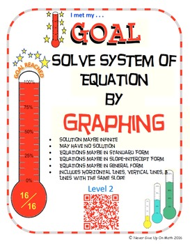 GOAL NO PREP - Solve System of equations by Graphing Level