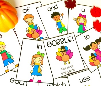 Sight Word Games-Thanksgiving