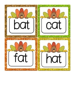 GOBBLE! A Thanksgiving Themed Short A CVC Fluency Game