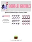 GOBBLE! GOBBLE! Thanksgiving Phonics Game Activity Blends & Consonant Digraph