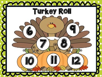 GOBBLE GOBBLE...Turkey Roll Math Station