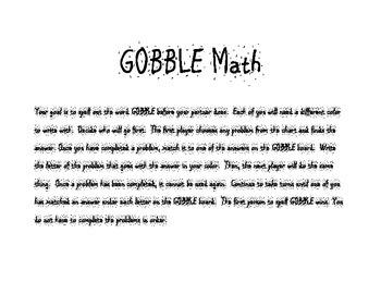 GOBBLE Math