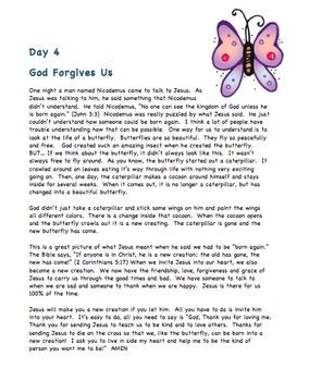 GOD LOVES US 4 insect themed Sunday School Lessons with Coloring Pages &  Crafts