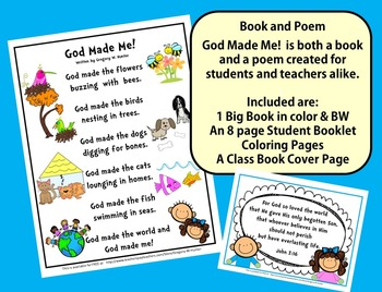 GOD MADE ME!   ~   A FREE Book and Poem Just for You!