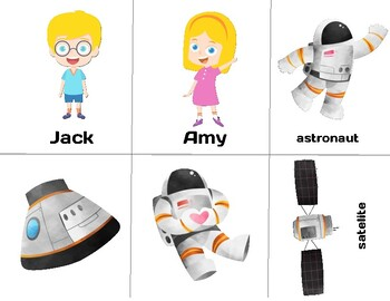 GOGO KIDS ESL Trial Class Level 4 Props: The Week of Space Travel