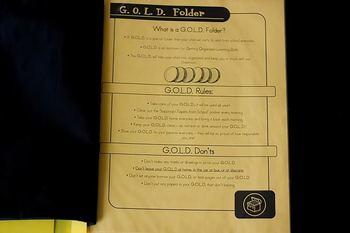 GOLD Homework Folders Freebie