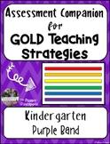 Assessment Companion for GOLD Teaching Strategies (Kindergarten)