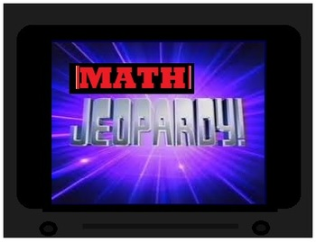 Math Jeopardy and Bingo Boards, Centers 3rd through 5th