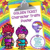 GOLDEN TICKET Character Traits Poster Set