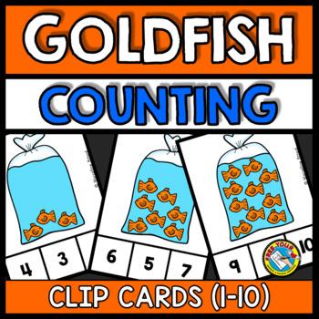 #presidentialdollardeals GOLDFISH PRESCHOOL COUNTING 1-10 ACTIVITY