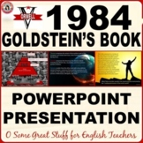 1984 GOLDSTEIN'S BOOK  Dynamic and Vibrant Powerpoint with Notes