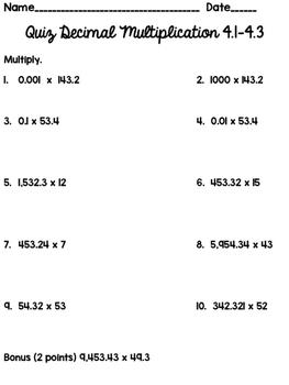 GOMATH! 5th Grade Quiz 4.1-4.3