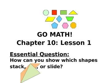 GOMATH CHAPTER 10 ESSENTIAL QUESTIONS- KINDERGARTEN
