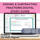 GOMath Aligned Grade 5 Ch. 6 Digital Study Guide Adding &