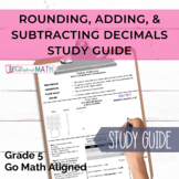 GOMath Chapter 3 Study Guide (Adding and Subtracting Decimals)