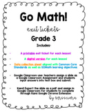 GOMath Grade 3 Exit tickets Chapter 3 Digital Distance Lea