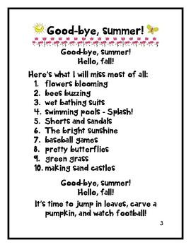 GOOD-BYE, SUMMER!