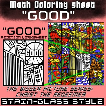 Math Colouring Worksheet (Addition) -Good