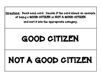 GOOD CITIZEN ... OR NOT? SORTING CENTER - CITIZENSHIP